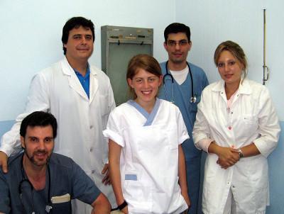 Volunteers and hopsital staff