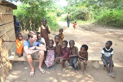 Volunteer with local children