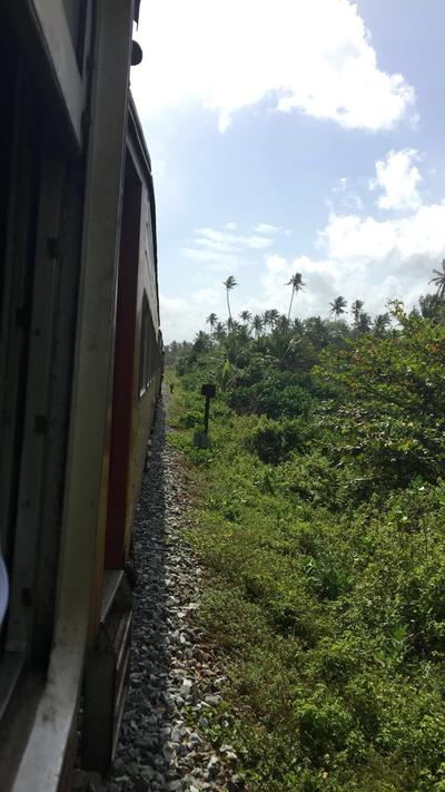 A train ride through Sri Lanka