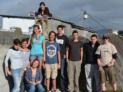 Volunteers on a building project in South Africa