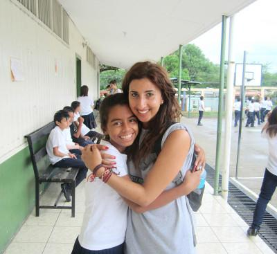 Volunteer at her teaching placement in Costa Rica