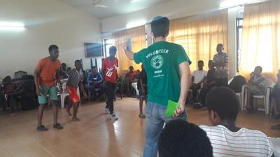 Interactive teaching with Ghanaian school children