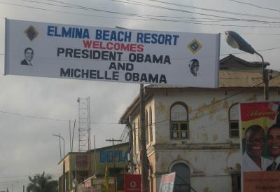 Obama welcome sign