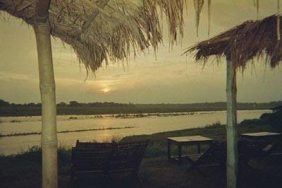 Sunset at Chitwan National Park