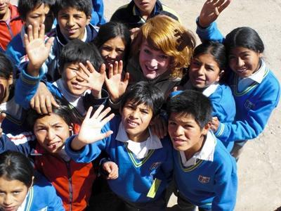 With my school kids