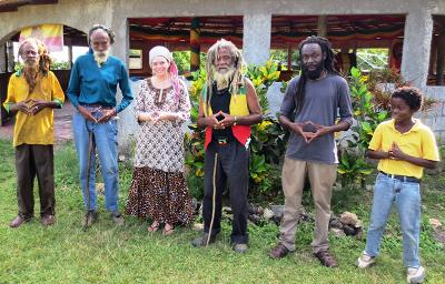 Friendly people in Jamaica
