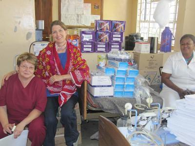 Donation at hospital