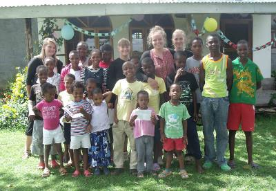 At the orphanage