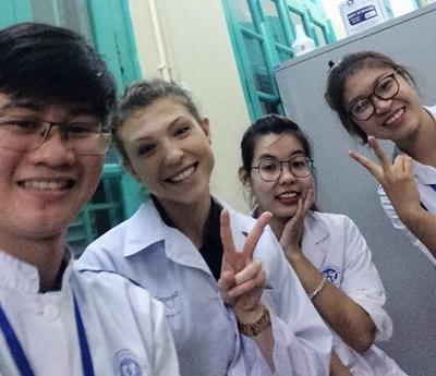Volunteer with medical staff in Vietnam