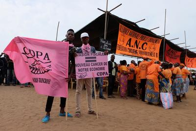 Reporting from a peaceful rally in Togo