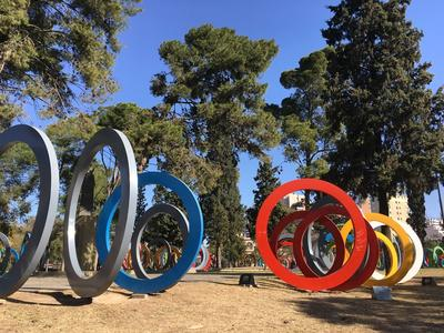 Art displayed in a park in Argentina