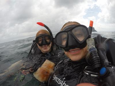 During an open water scuba dive