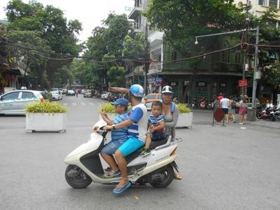 Motorcycle family in Hanoi