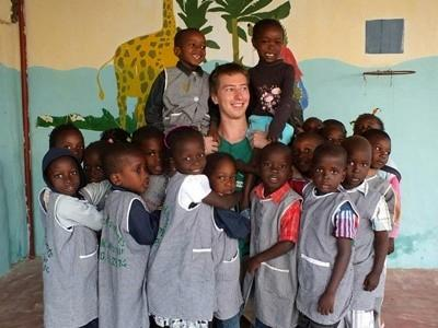 With students in Senegal