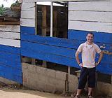 Matthew outside school building