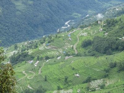 A view of the beautiful landscape of Nepal