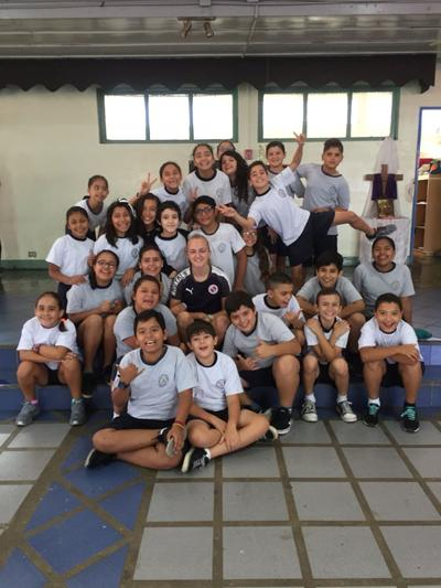 May with her students in Costa Rica
