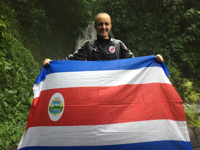 May with the Costa Rican flag