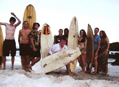 Surfing in San Cristobal