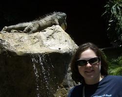 With large Iguana