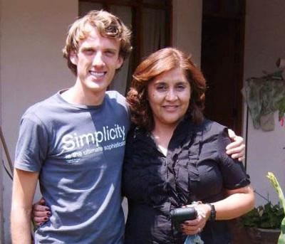 With my host mother