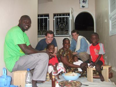 Dinner with host family