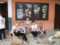 With other volunteers in Nepal