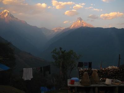 Stunning sunets in Nepal