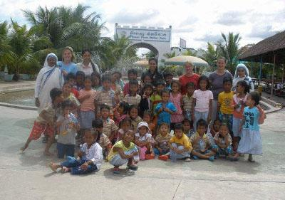Children and staff from my placement