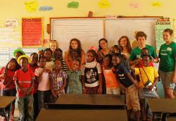 With children at my school
