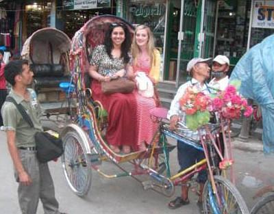 Volunteer socialising Nepal