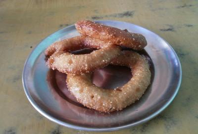 Volunteering traditional food Nepal
