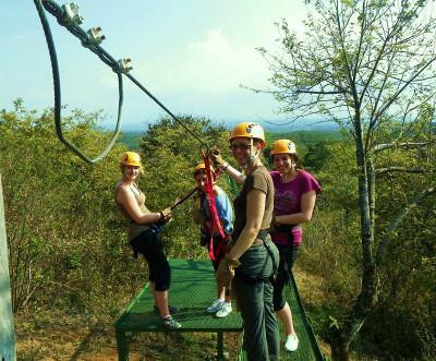 Volunteer trip to a rope swing in Costa Rica