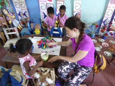 Arts and crafts at the Care project