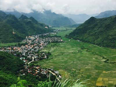 View of Mai Chau village in Vietnam