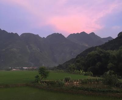 Mai Chau at sunset