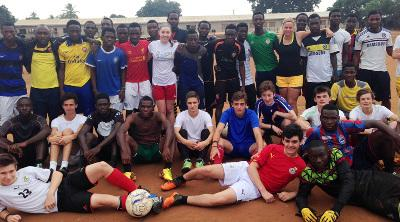 At the sports project in Ghana