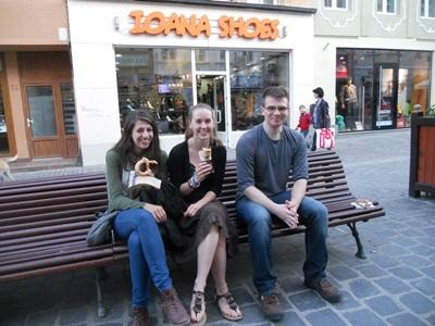Volunteers in town-Romania