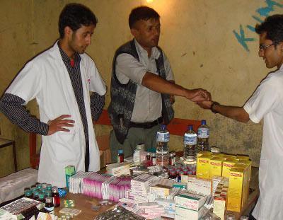 Donating medical supplies