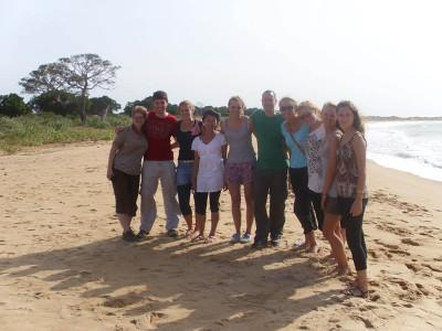 Volunteer group at the beach