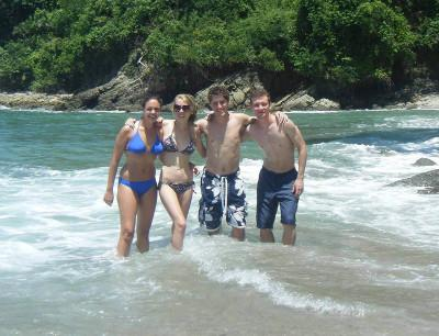 Me and volunteers in the sea