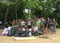 After beach clean-up