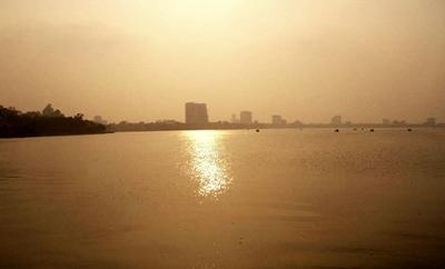 City sunset in Vietnam