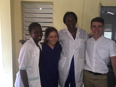 Volunteers with local medical staff in Jamaica