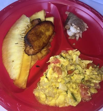 A traditional Jamaican meal