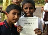 Children with their IT Certificates