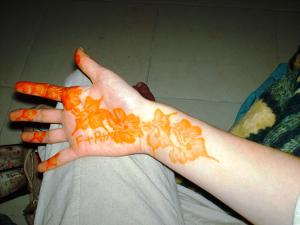 Henna tatoo in Morocco
