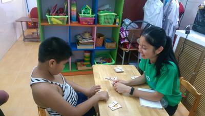 Rowena doing Speech Therapy in Vietnam