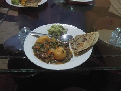 A typical Kenyan meal