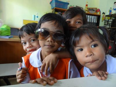 Children at a day care centre in Thailand